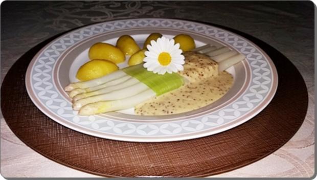Spargel mit Sauce Dijonnaise und Pellkartoffeln - Rezept - Bild Nr. 20
