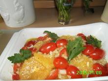 Fisch  mit Orangen - Rezept