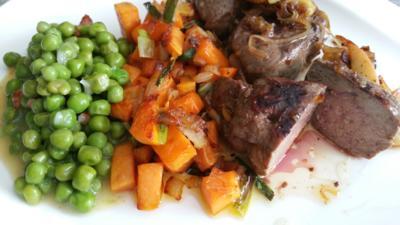 Fleisch / Innereien = Rinderleber mit Erbsen und Süsskartoffel à la Biggi - Rezept - Bild Nr. 17