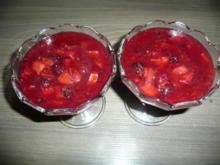Rhabarber- Brombeer - Dessert - Rezept