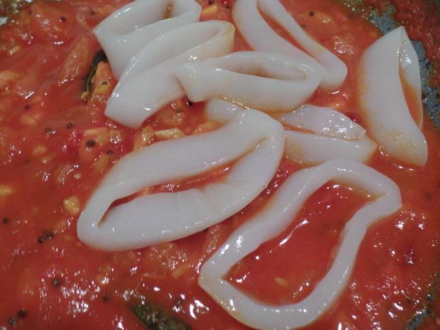 Tintenfischringe in roter Sauce - Rezept - Bild Nr. 10