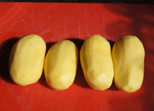 Hähnchenschenkel mit grünen Bohnen und Kartoffelpilzen - Rezept - Bild Nr. 9