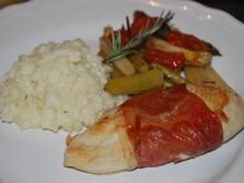 Hähnchen-Saltimbocca mit gebratenem Spargel  - Rezept