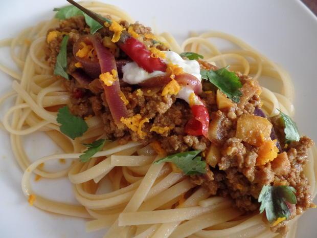Herzhaftes Curry-Lammhackfleisch - Rezept