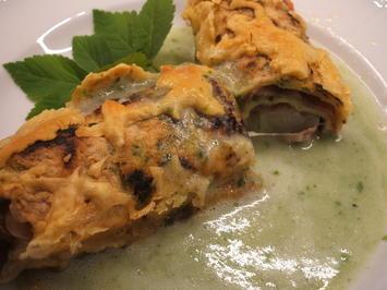Gemüse: Spargel im Bärlauchpfannkuchen - Rezept