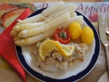 Spargel mit Kabeljaufilet und Frühkartoffeln - Rezept