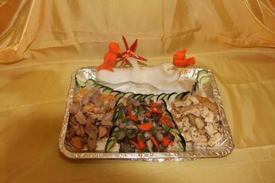 Ferkel trifft Hühnchen im Gemüsegarten - Rezept