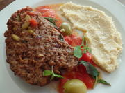 Kräuter-Hackbraten mit Polenta - Rezept