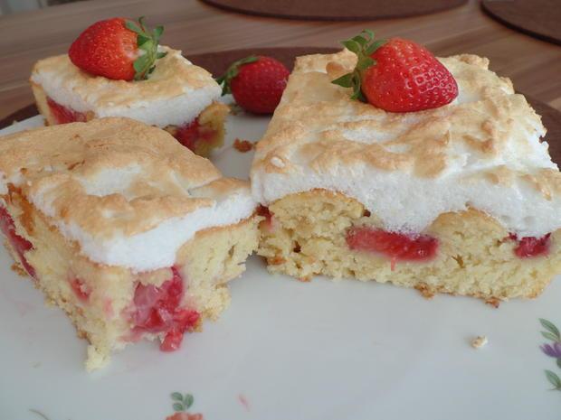 Erdbeer Baiser Kuchen Rezept Mit Bild Kochbar De