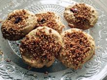 Erdnussbuttercookies mit Granola bestreut - Rezept