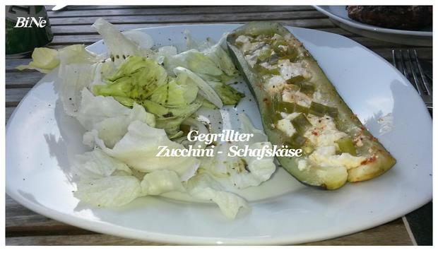 BiNe` S GEGRILLTER ZUCCHINI - SCHAFSKÄSE - Rezept