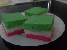 "Käse-Sahne-Schnitten ""Tricolore"" - Rezept"
