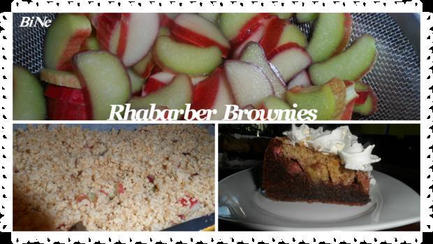 BiNe` S RHABARBER BROWNIES - Rezept - Bild Nr. 2