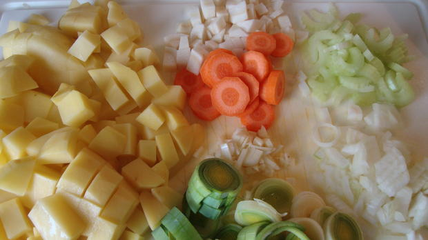 Kartoffel-Frischkäsecreme Süppchen - Rezept - Bild Nr. 4