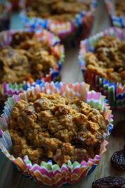 Gesunde Karotten-Frühstücks-Muffins - Rezept