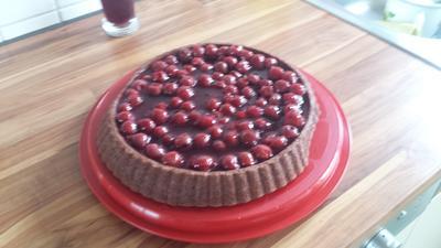 Schokoladen Obst Kuchen - Rezept