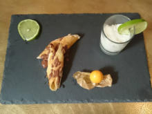 "Süße ""Cannelloni"" mit Holunder-Limetten-Sorbet - Rezept"