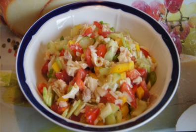 Gemischter Salat mit Forellen Filets - Rezept