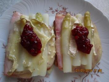 Spargel-Toast mit Camembert - Rezept