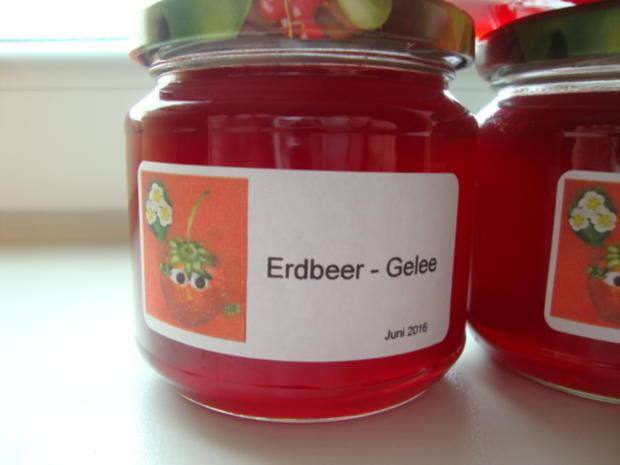 Erdbeergelee - Rezept