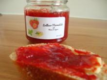 Erdbeerkonfitüre mit Minze und Ingwer - Rezept