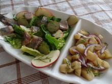 Kartoffel-Risotto mit Matjessalat - Rezept