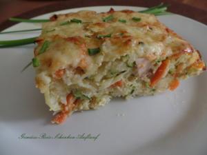 Gemüse-Reis-Schinken-Auflauf - Rezept