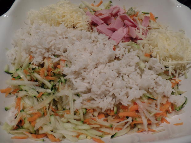 Gemüse-Reis-Schinken-Auflauf - Rezept - Bild Nr. 9