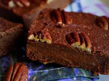 Gesunde Süßkartoffel-Dattel-Nuss-Brownies - Rezept