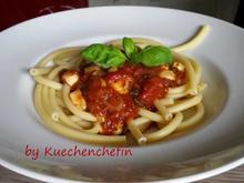 Makkaroni mit etwas schärferer Tomatensauce - Rezept