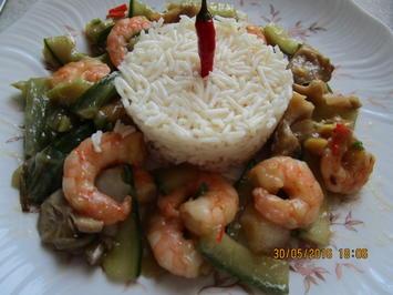 Gebratene Garnelen aus der Asiaküche - Rezept