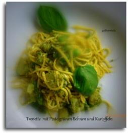 Ligurische Pasta mit Pesto,grünen Bohnen und Kartoffeln - Rezept