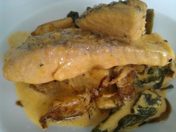 Rezept: Lachsfilet in Safrancremesosse à la Biggi