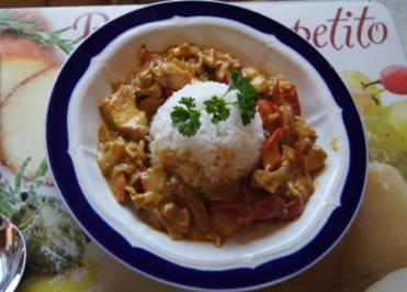 Curry-Putengeschnetzeltes mit Reis - Rezept