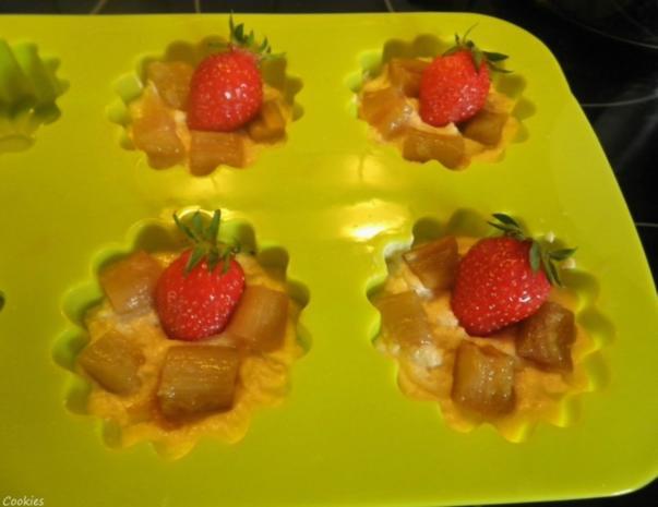 Mini - Erdbeer - Rhabarber - Kuchen - Rezept - Bild Nr. 5