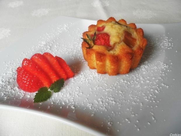 Mini - Erdbeer - Rhabarber - Kuchen - Rezept - Bild Nr. 8