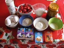 Biskuit Erdbeeren Schnitten - Rezept