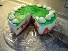 Waldmeister- Erdbeer-Torte - Rezept