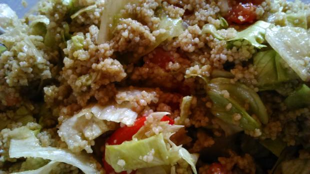 Scharfer Schweine-Schopfbraten vom Grill mit Couscous Salat - Rezept - Bild Nr. 4