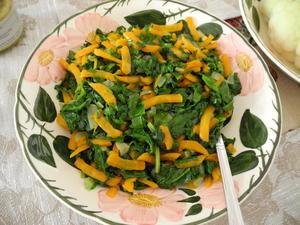 Spinat mit Kürbis - Rezept