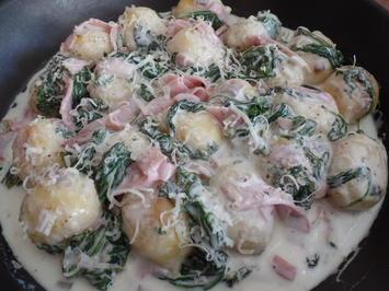Spinat-Schinken -Gnocchi - Rezept