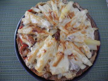 Rezept: Hackfleisch - Pizza