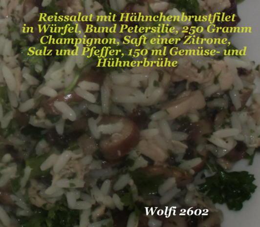 Reis-Geflügel-Salat mit Champignon - Rezept - Bild Nr. 2