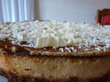Weiße Schokolade-Käsekuchen - Rezept