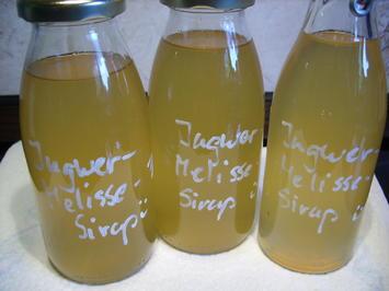 Vorrat: Ingwer-Melissen-Zitronen-Sirup - Rezept