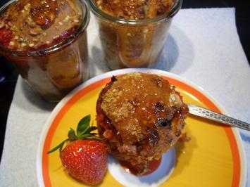 Rezept: Rhabarberkuchen im Glas