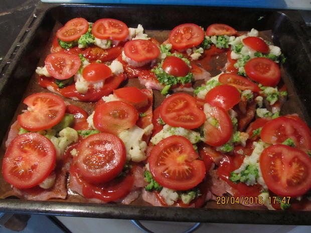 Schnitzelpizza - Rezept