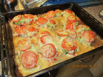Rezept: Schnitzelpizza