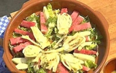 Gegrillter Fenchel-Melonensalat mit Parmaschinken - Rezept