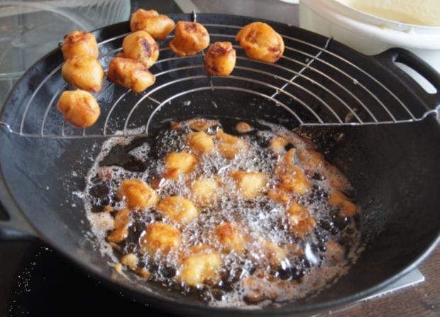 Hähnchenbrustfiletwürfel im Bierteig mit Chinesischen Nudeln und Gemüse - Rezept - Bild Nr. 5